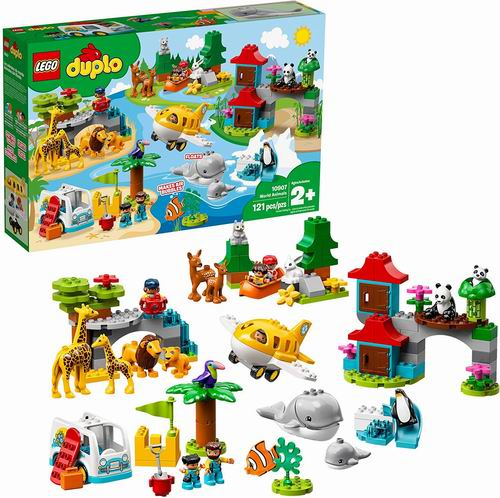 LEGO乐高 10907 得宝系列 环球动物 8折 103.97加元,原价 129.99加元,包邮