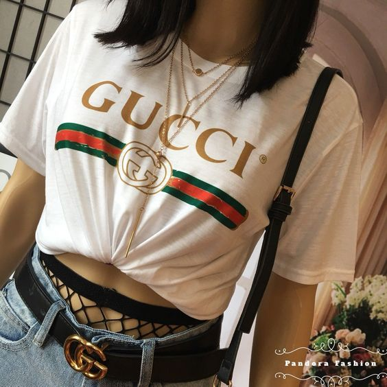 GUCCI古驰经典logo短袖T恤 420.54加元(官网价705加元)! 怎么搭配怎么好看 黑白两色可选