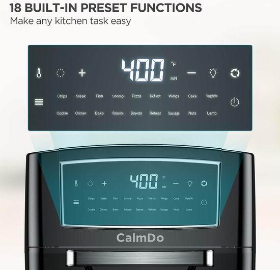 CalmDo 12升 对流空气炸锅/烤箱 179.99加元包邮!360度旋转烤鸡、烤羊肉串!