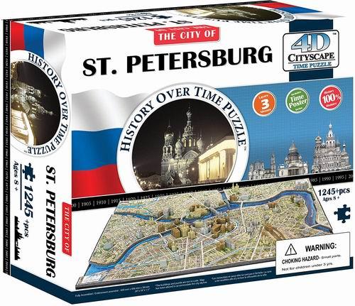 4D Cityscape 俄罗斯圣彼得堡 4D拼图 57.49加元+包邮