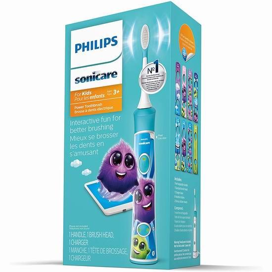 Philips 飞利浦 Sonicare 声波震动 HX6321/02 蓝牙版儿童电动牙刷 47.95加元包邮!2色可选!