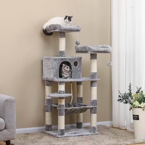 FEANDREA  UPCT15W 58英寸带吊床多层猫树 108.99加元,原价 139.99加元,包邮