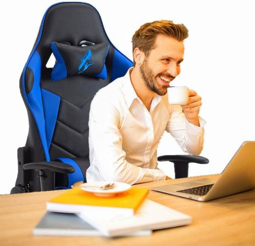 HAWGUAR 人体工学 高靠背赛车办公椅/游戏椅 161.49加元限量特卖(2色),原价 199.99加元,包邮