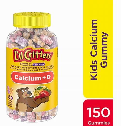 L'il Critters小熊钙+ D3软糖维生素150粒 10.28加元