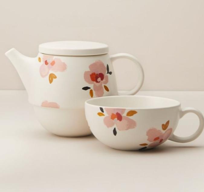 Indigo精选桃花、桃子陶瓷茶具系列 6.8折 1.5加元起特卖!封面款 20加元