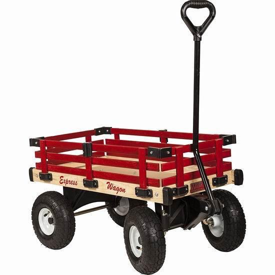 Millside Industries 实木儿童拖车 127.49加元包邮!
