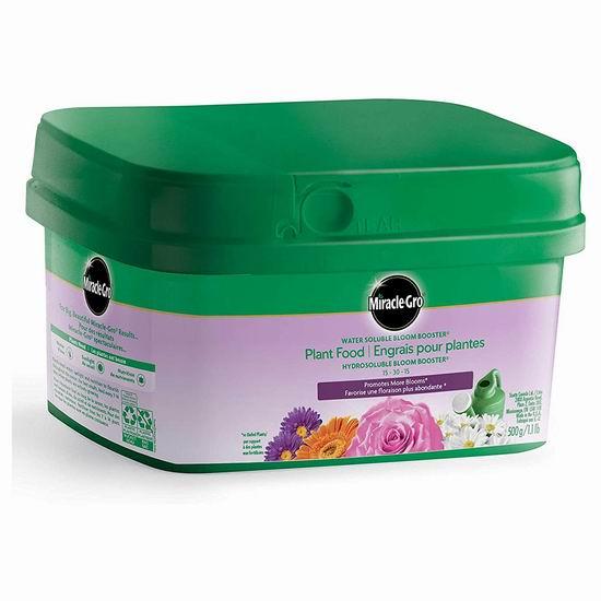手慢无!历史新低!Miracle-Gro 2756210 水溶性花卉植物复合肥料 4加元清仓!