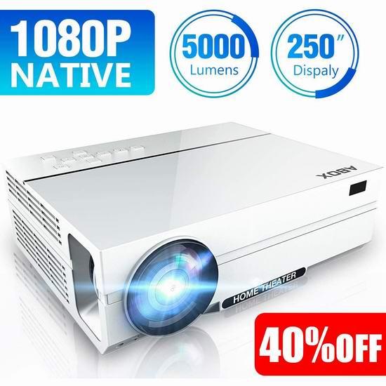 历史新低!ABOX A6 5000流明 1080P全高清 家庭影院LED投影仪5.3折 197.99加元包邮!