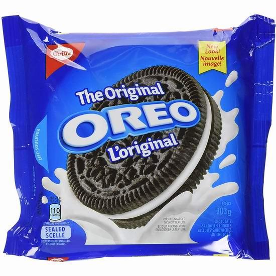 OREO 奥利奥 Thins Original 巧克力夹心饼干(303克)2.77加元!5款可选!