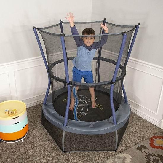 折扣升级!历史新低!Skywalker Trampolines Space Explorer 48英寸儿童封闭蹦床 86.04加元包邮!