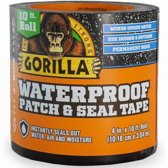 Gorilla Patch & Seal 大猩猩 室内/户外防水胶带(3.04米)5.3折 16.45加元!