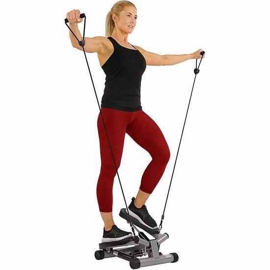 塑造完美身材!Sunny Health & Fitness NO. 068 家用扭腰踏步机 82.92加元包邮!