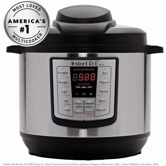 Instant Pot IP-LUX60 V3 6夸脱多功能电压力锅 89.97加元包邮!