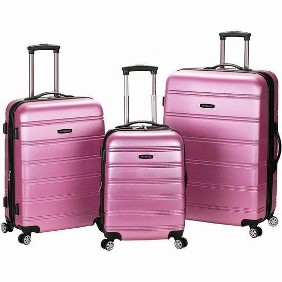 白菜价!历史新低!ROCKLAND F160 时尚硬壳拉杆行李箱3件套(20寸+24寸+28寸)3.2折 115.75-120.75加元包邮!2色可选!