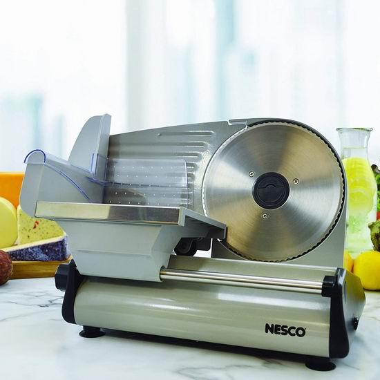 火锅切肉片神器!Nesco FS-200 180瓦 7.5英寸不锈钢切片机 90.76加元包邮!