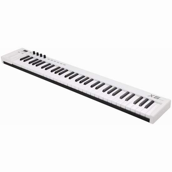 历史新低!midiplus X6 mini 61键 便携式MIDI键盘 125.34加元包邮!