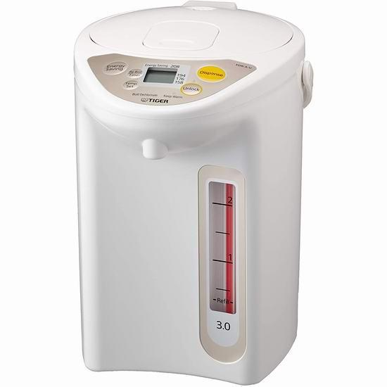 Tiger 虎牌 PDR-A30U WU Micom 3升 微电脑控制 电热水壶 8折 119.99加元包邮!