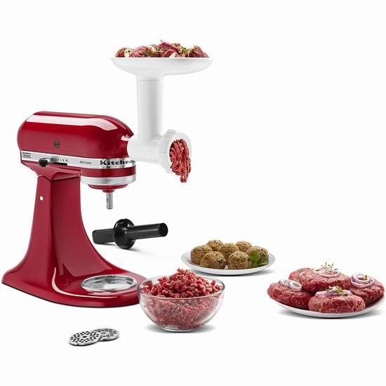历史最低价!KitchenAid KSMFGA 厨师机专用 绞肉/灌肠通用配件5.9折 64.98加元包邮!