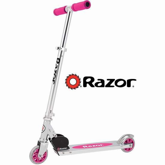 手慢无!Razor A Kick 粉色儿童滑板车 47.69加元包邮!