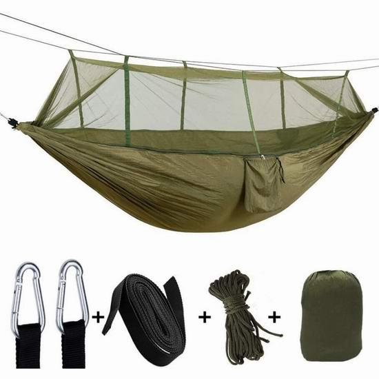 历史最低价!douper Parachute Cloth 便携式双人吊床+蚊帐 29.99加元!