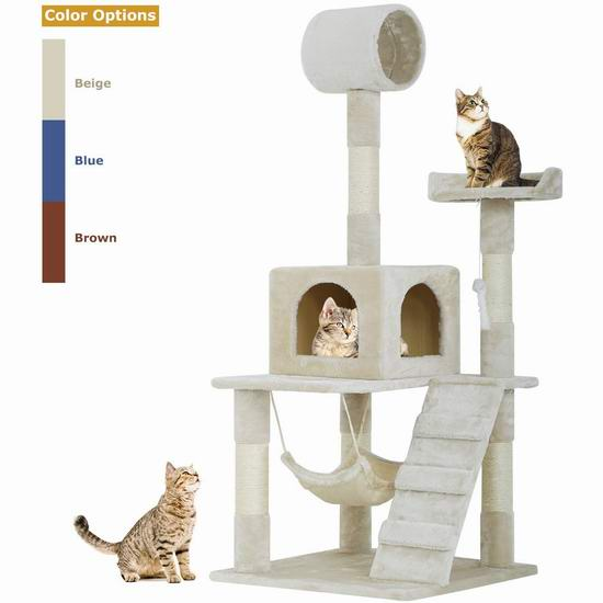 BestPet 55英寸 多层猫树公寓/猫爬架 69.99加元包邮!