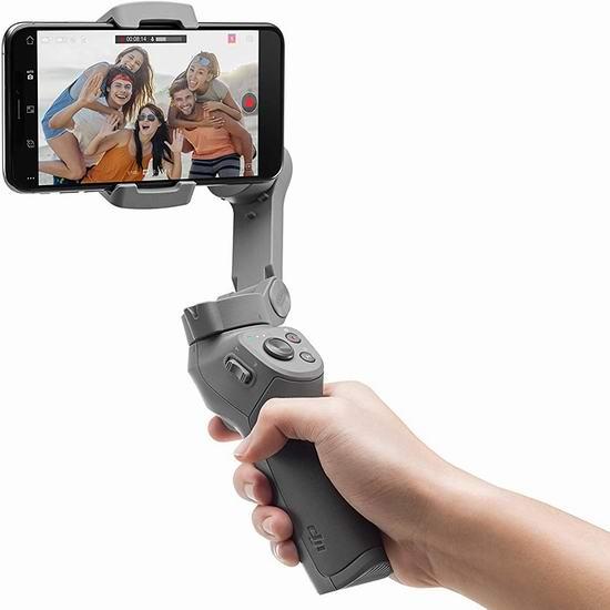 历史新低!DJI 大疆 Osmo Mobile 灵眸手机云台3 Combo套装7折 119加元包邮!手机也能拍出大片效果!