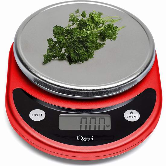 Ozeri ZK14-R Pronto 数字式厨房秤(5.1公斤) 18.43加元!
