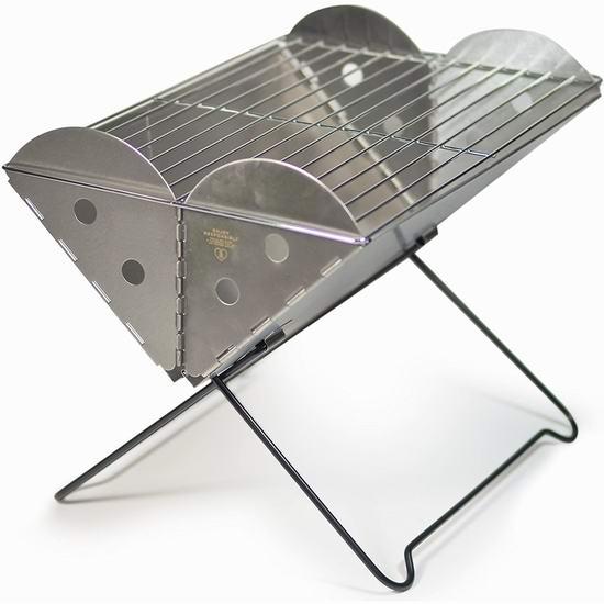 历史新低!UCO Flatpack 可折叠便携式不锈钢碳烧BBQ烧烤炉 43.25加元包邮!