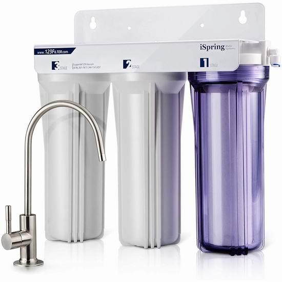 近史低价!iSpring RCC7AK 3级 无罐式 家用水过滤系统 158.49加元包邮!