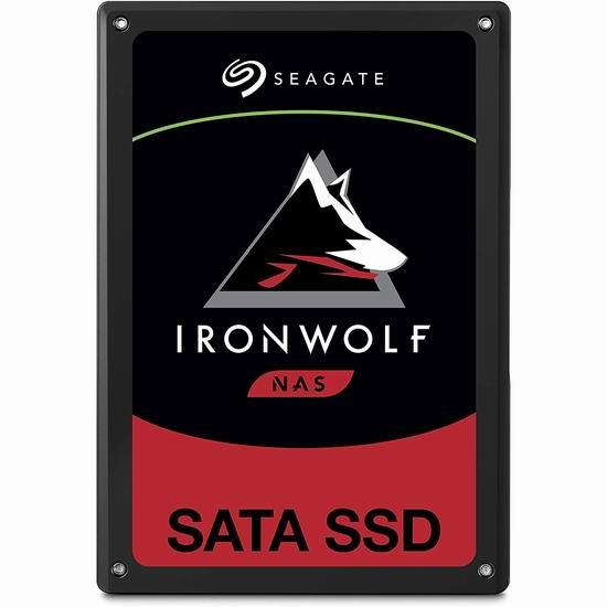 历史新低!Seagate 希捷 ZA960NM10011 Ironwolf SSD 110 960GB 高耐用性 NAS 固态硬盘6.2折 148.6加元包邮!