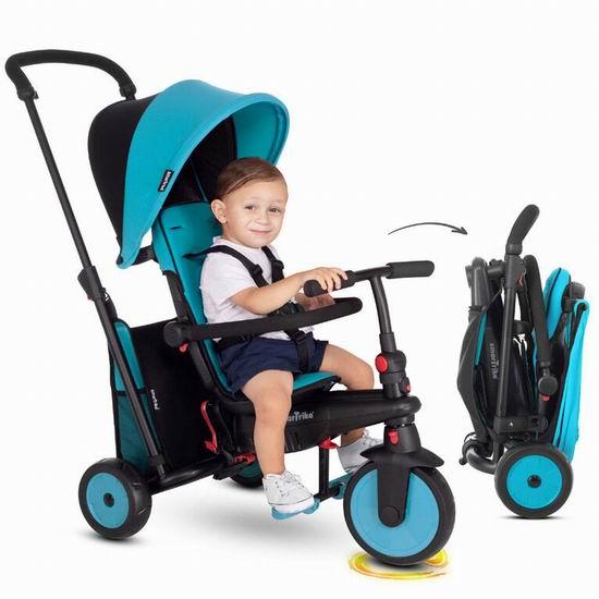 历史最低价!英国 smarTrike STR3 六合一 成长型 可折叠 避震婴幼儿推车/三轮车 143.97加元包邮!