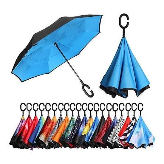 历史新低!Bagail 双层抗风 防紫外线 创意雨伞/倒伞 18.99加元!3色可选!