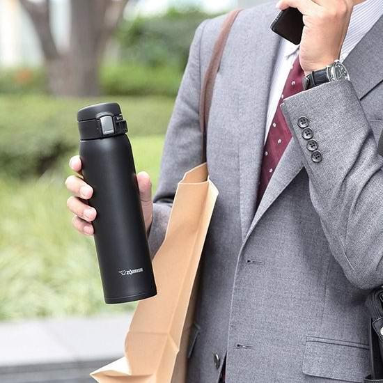历史新低!ZOJI Zojirushi 象印 SM-SHE60BZ 20盎司(600毫升)黑色不锈钢真空保温杯 40.29加元包邮!