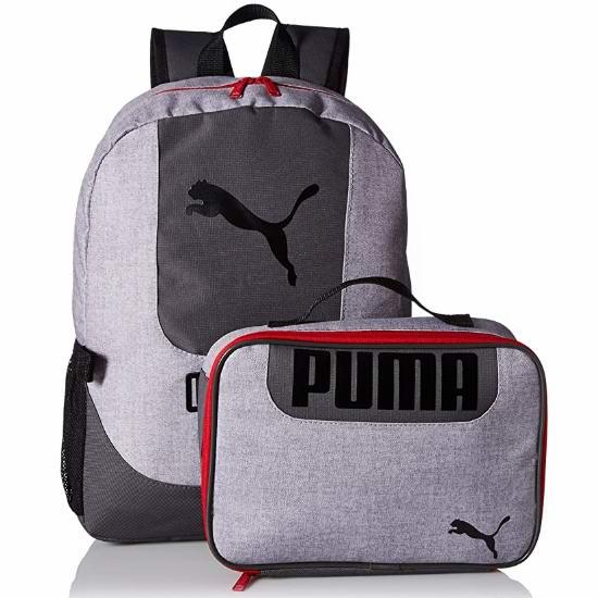 历史新低!PUMA Logo印花 大童书包+午餐包套装 24.54-28.36加元!2色可选!
