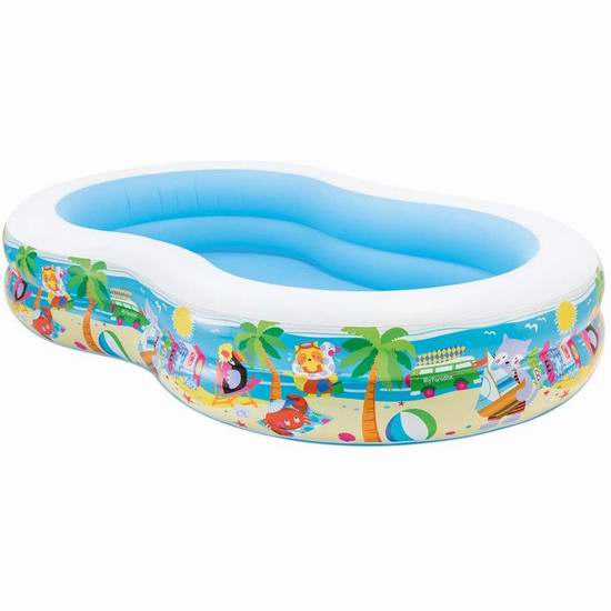 Intex Swim Center Paradise 儿童充气戏水游泳池 39.89加元包邮!