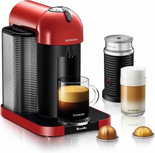 历史最低价!Nespresso Vertuo 咖啡机+奶泡机套装5.3折 169加元包邮!