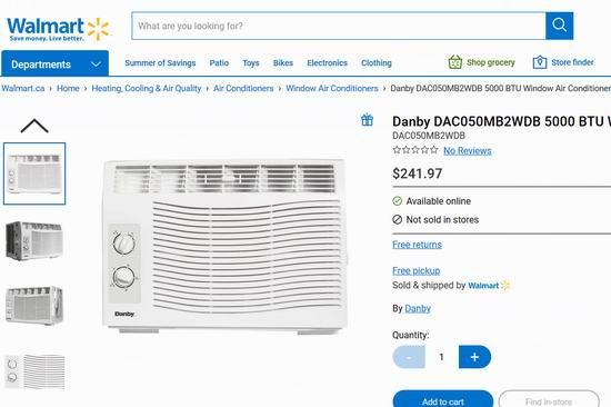历史新低!Danby DAC050MB2WDB 5000 BTU 窗式制冷空调 139.99加元!