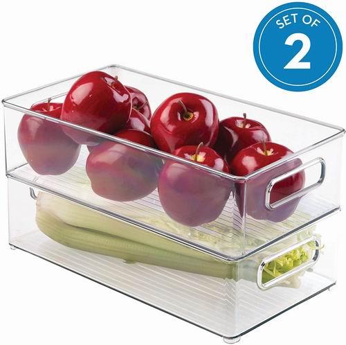 iDesign塑料冰箱收纳盒 2件套 7.9折 31.36加元,原价 39.49加元