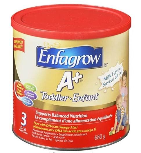 Enfagrow 美赞臣 A+ 幼儿配方奶粉 17.55加元起!2种口味可选!
