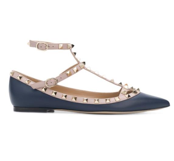 Valentino Garavani 铆钉芭蕾舞鞋 750加元(35-36码),原价 1250加元