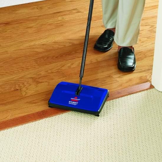 Bissell 必胜 Sturdy Sweep 2402C 地板/地毯 无绳手动扫地机 23.78加元!