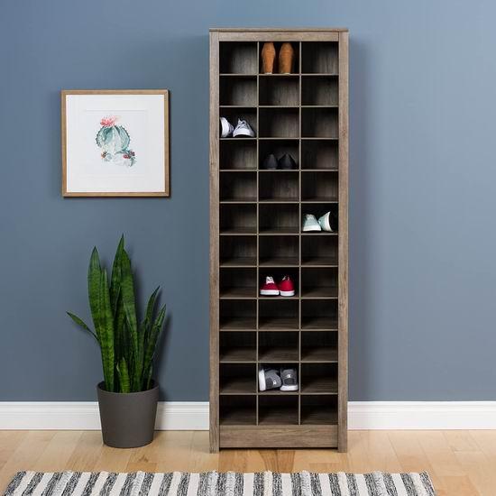 Prepac 1.84米超大容量 立式鞋柜6.1折 164.98加元包邮!