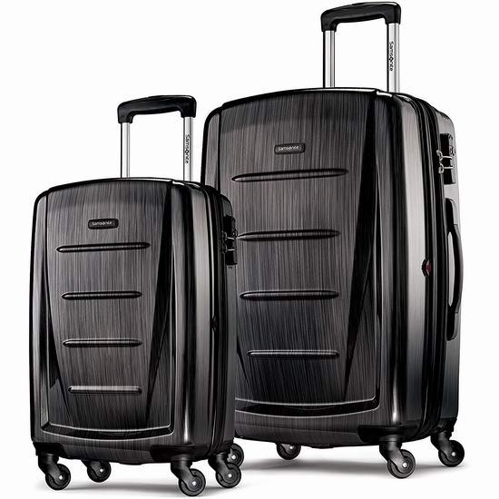 白菜价!Samsonite 新秀丽 Winfield 2 全PC 20/28寸 黑色拉杆行李箱1.9折 179.03加元包邮!