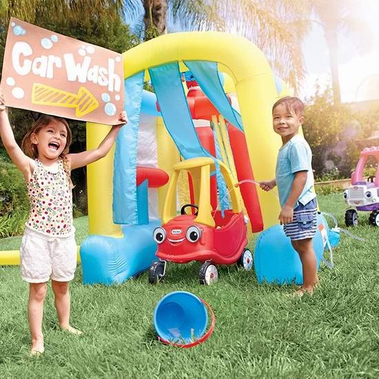 手慢无!Little Tikes 小泰克 Wacky Wash 儿童玩水 充气洗车房4.6折 118.98加元包邮!