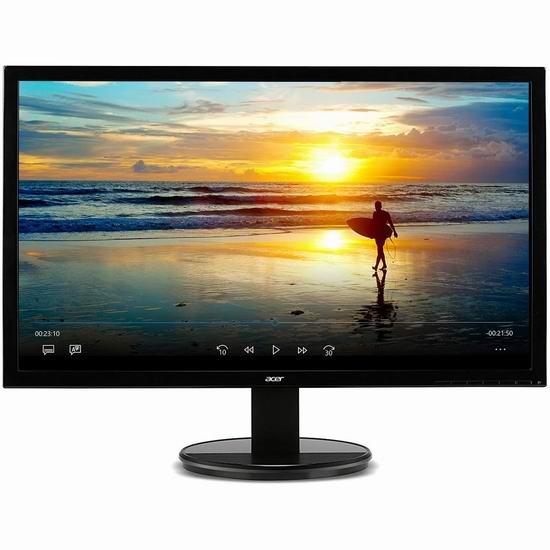 Acer 宏碁 K202HQL BD 19.5英寸窄边框 TN屏 宽屏显示器 93.15加元包邮!