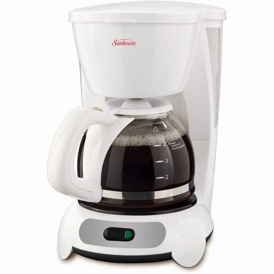 历史最低价!Sunbeam BVSBTF6-033 Switch 5杯量 滴滤式咖啡机 9.97加元清仓!