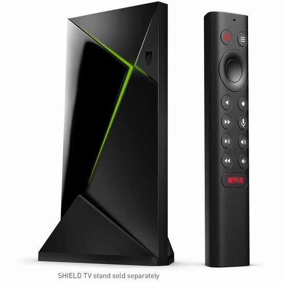 NVIDIA Shield Android TV Pro 4K HDR 超高清流媒体播放器 259.99加元包邮!