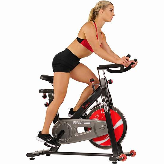 Sunny Health & Fitness SF-B1002C 链条版 豪华家用动感健身自行车 489.49加元包邮!美国Walmart同款895.81美元!