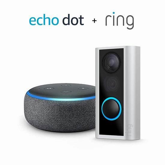 历史新低!Ring Door View 智能可视门铃4.2折 104.99加元包邮!送价值69.99加元Echo Dot智能音箱!会员专享!