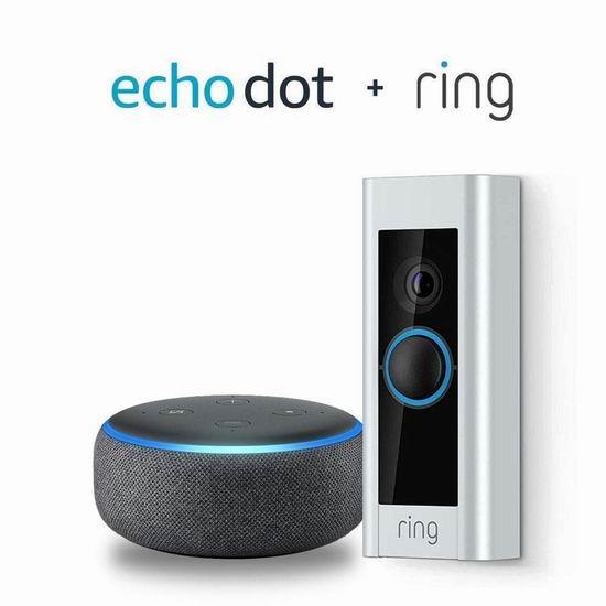 Ring Video Doorbell Pro 第二代1080P全高清WiFi智能门铃 229加元包邮!送价值69.99加元Echo Dot智能音箱!